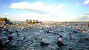 An Ironman Swim Start