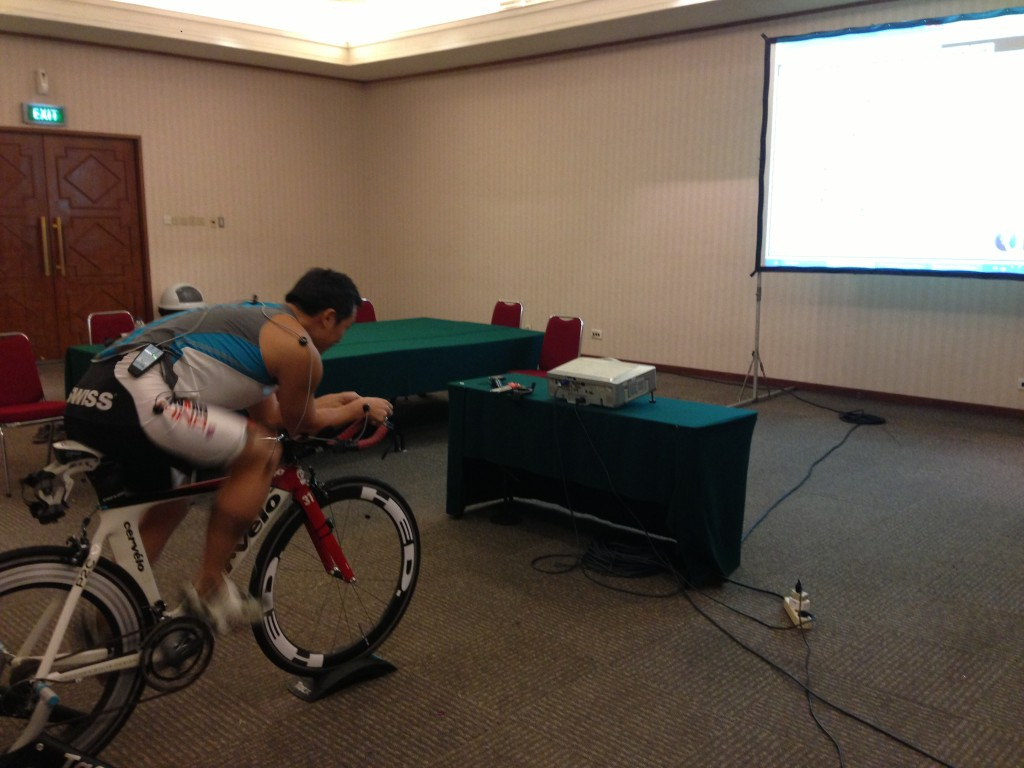 Adrian @ a Retul fitting with ChoonWei