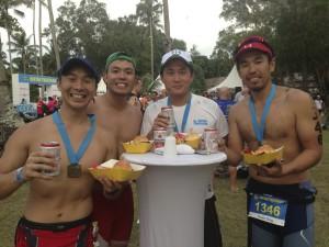 The best post race nutrition - beer n burgerts!