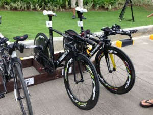 Pete & Macca's bikes in transition